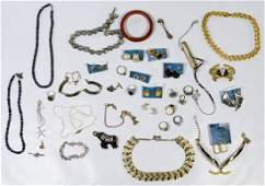 10k Gold, Sterling Silver and Costume Jewelry