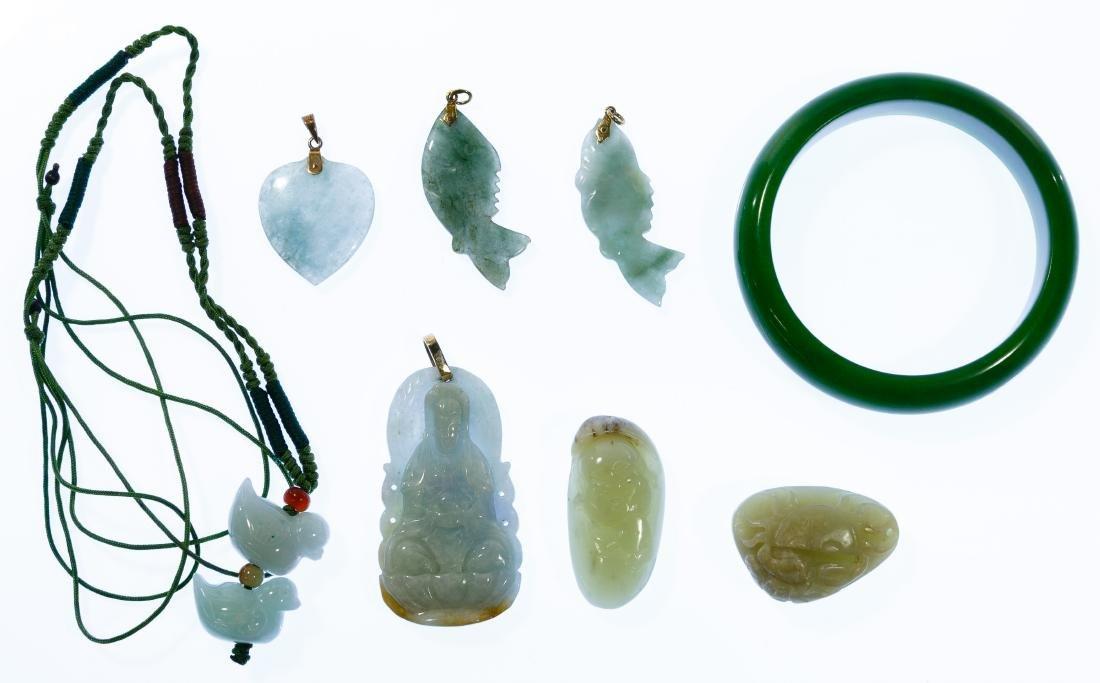 14k Gold and Jadeite Jade Jewelry Assortment