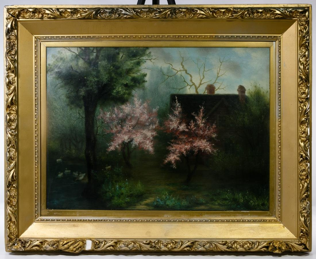 William Lowry (American, late 19th Century) Oil on