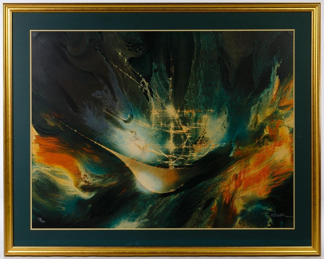 Leonardo Nierman (Mexican, b.1932) 'Ghost Ship'