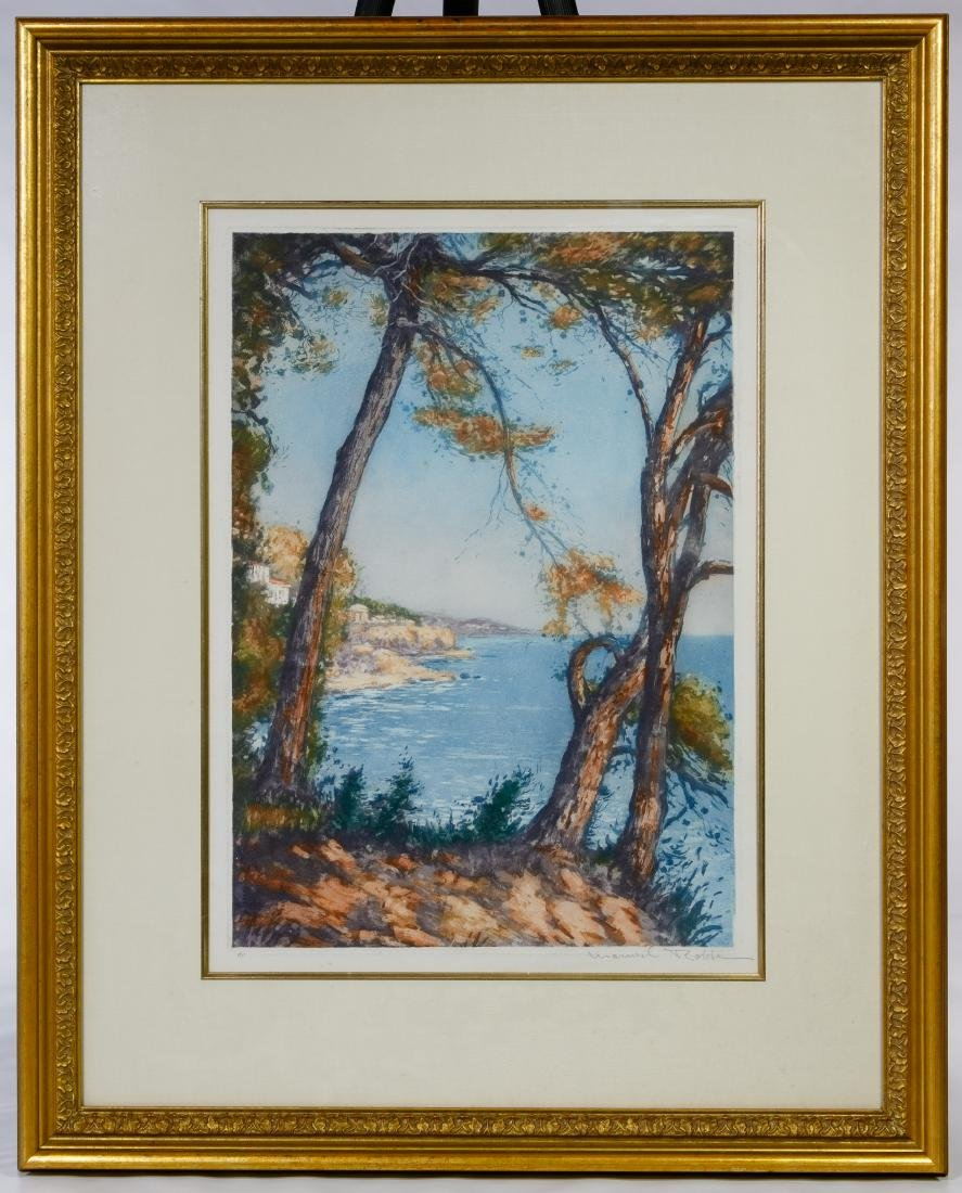 Manuel Robbe (French, 1872-1936) 'Cote de Azur'