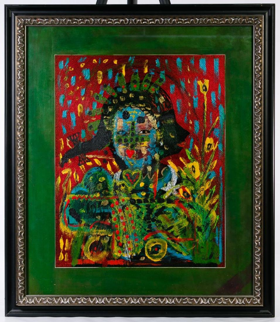 Outsider Art (20th Century) Portrait Mixed Media