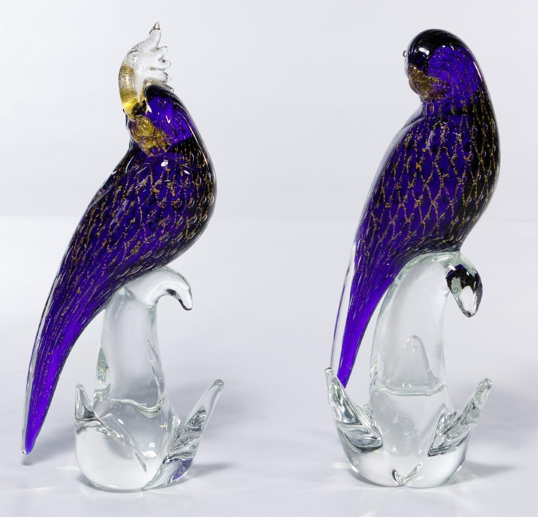 Sandro Frattin for Murano Art Glass Birds
