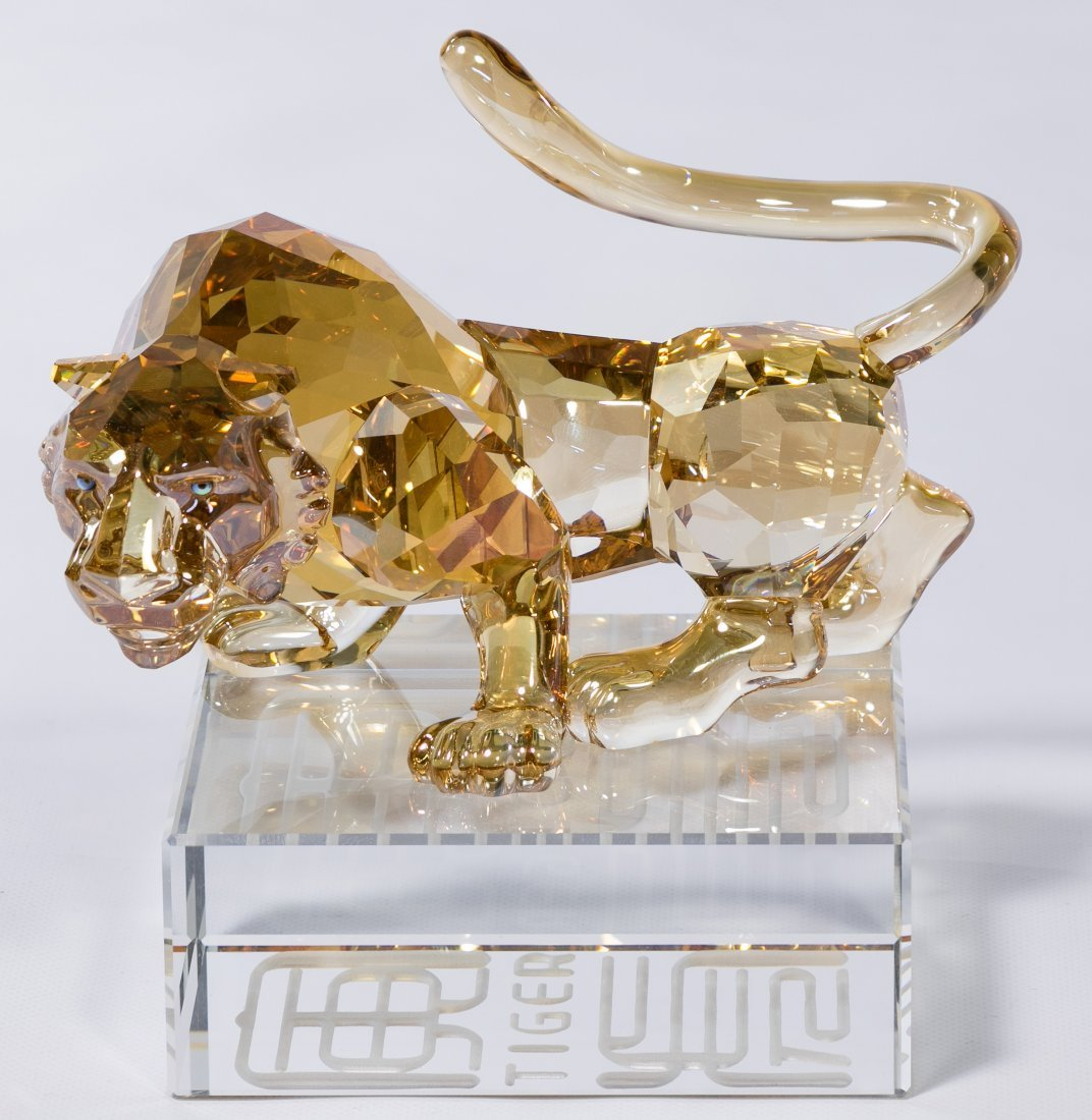 Swarovski Crystal Chinese Zodiac Golden Tiger Figurine