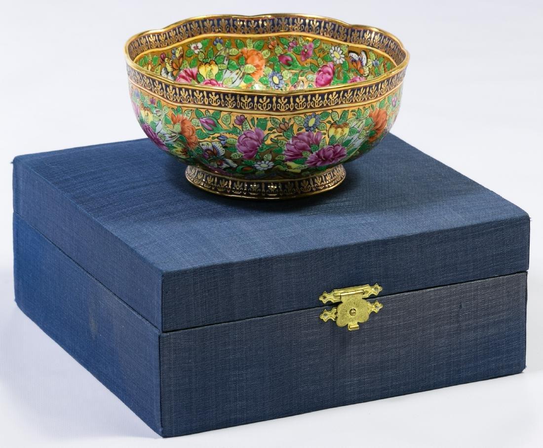 Gilt Enameled Porcelain Bowl