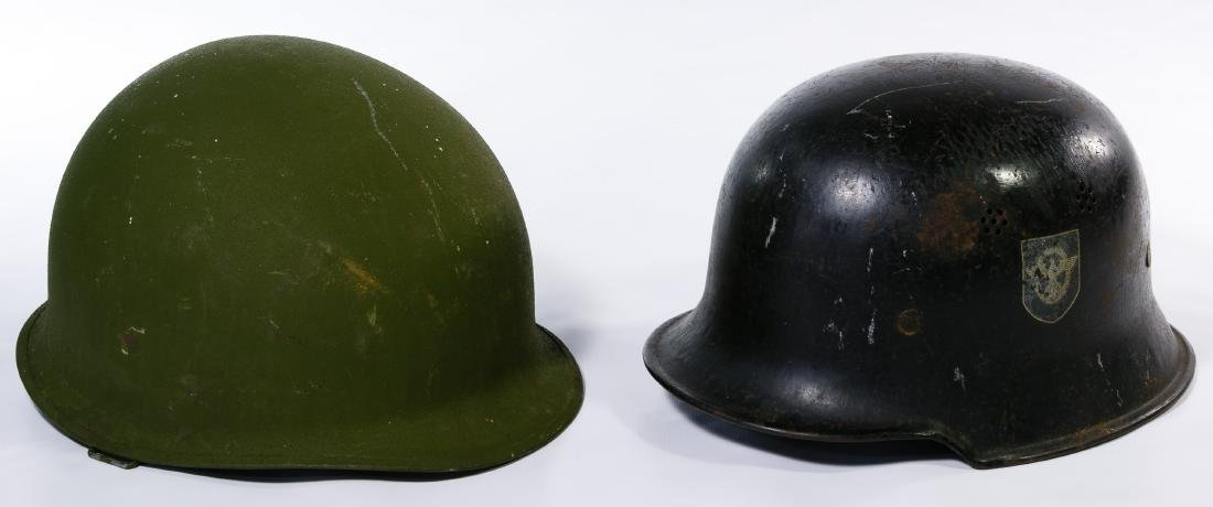 World War II German and Vietnam War US Helmets