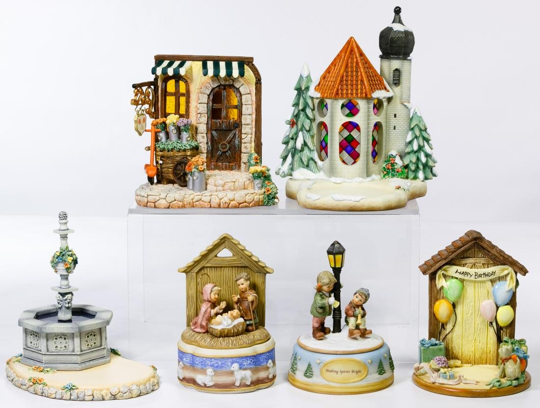 Hummel Figurine, Music Box and Building Assortment