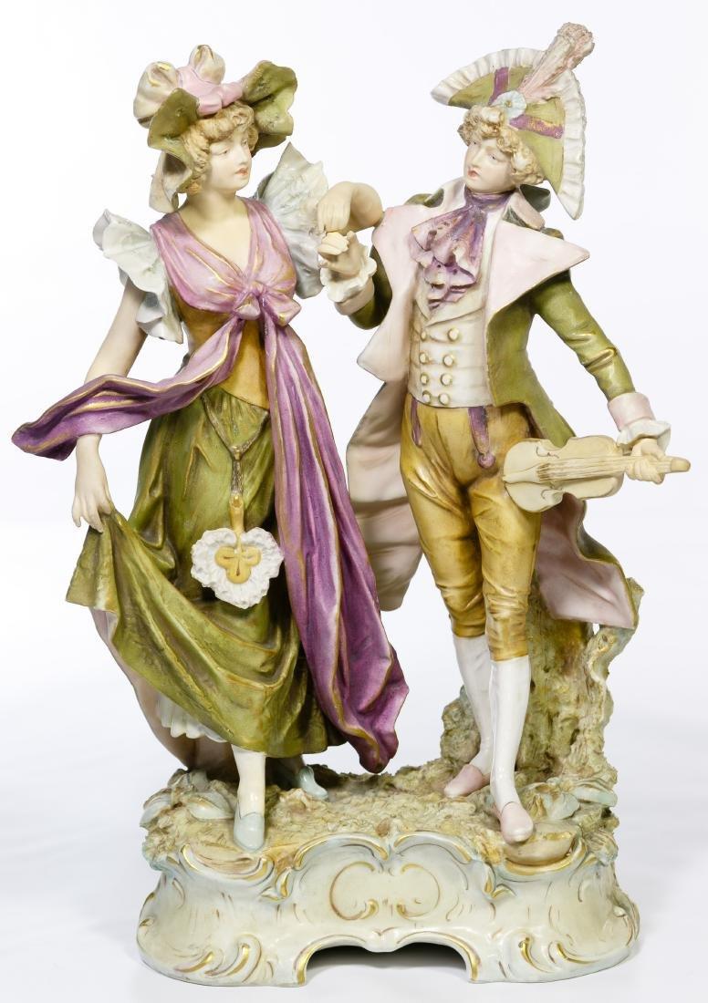 Royal Dux Couple Figurine #380