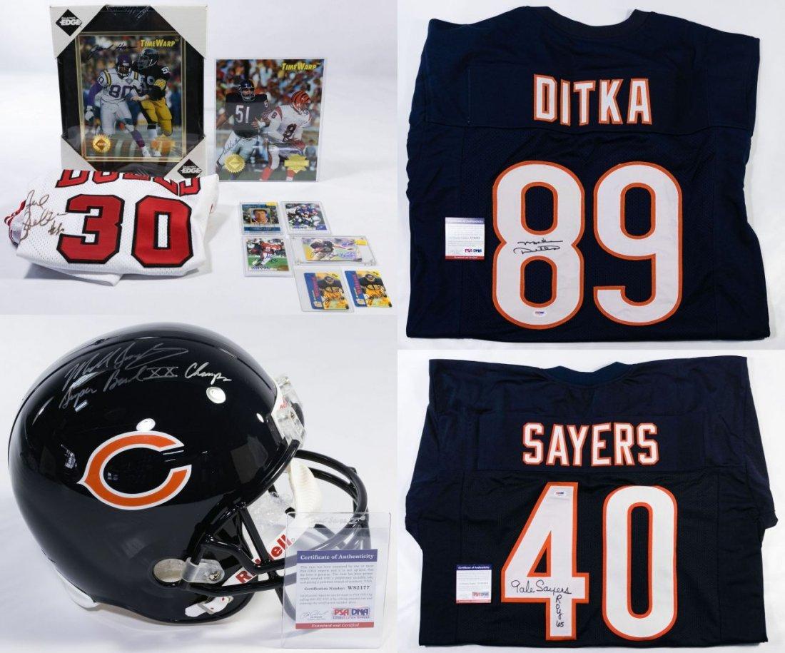 Chicago Bears Signed Football Memorabilia
