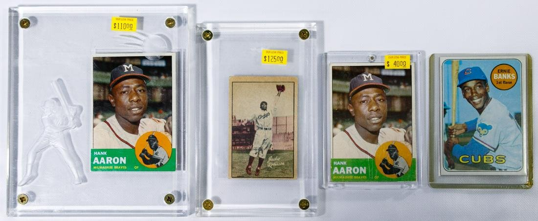 Topps Hank Aaron and Ernie Banks Baseball Trading Cards