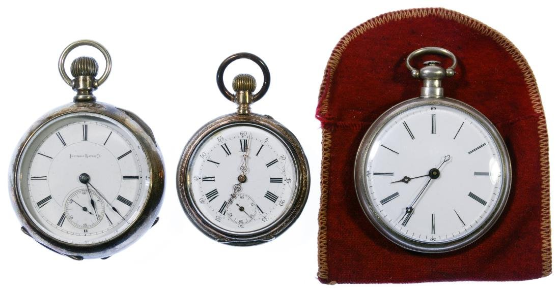 Coin Silver Open Face Pocket Watch