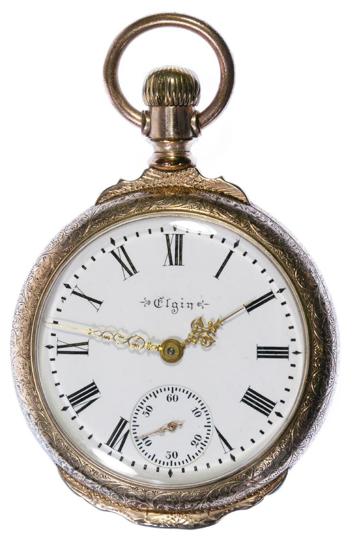 Elgin Gold Filled Open Face Pocket Watch