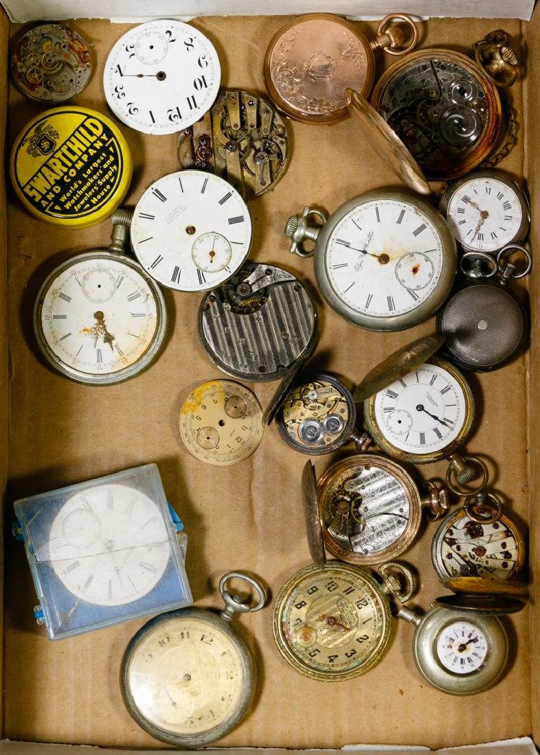 Pocket Watch and Works Assortment