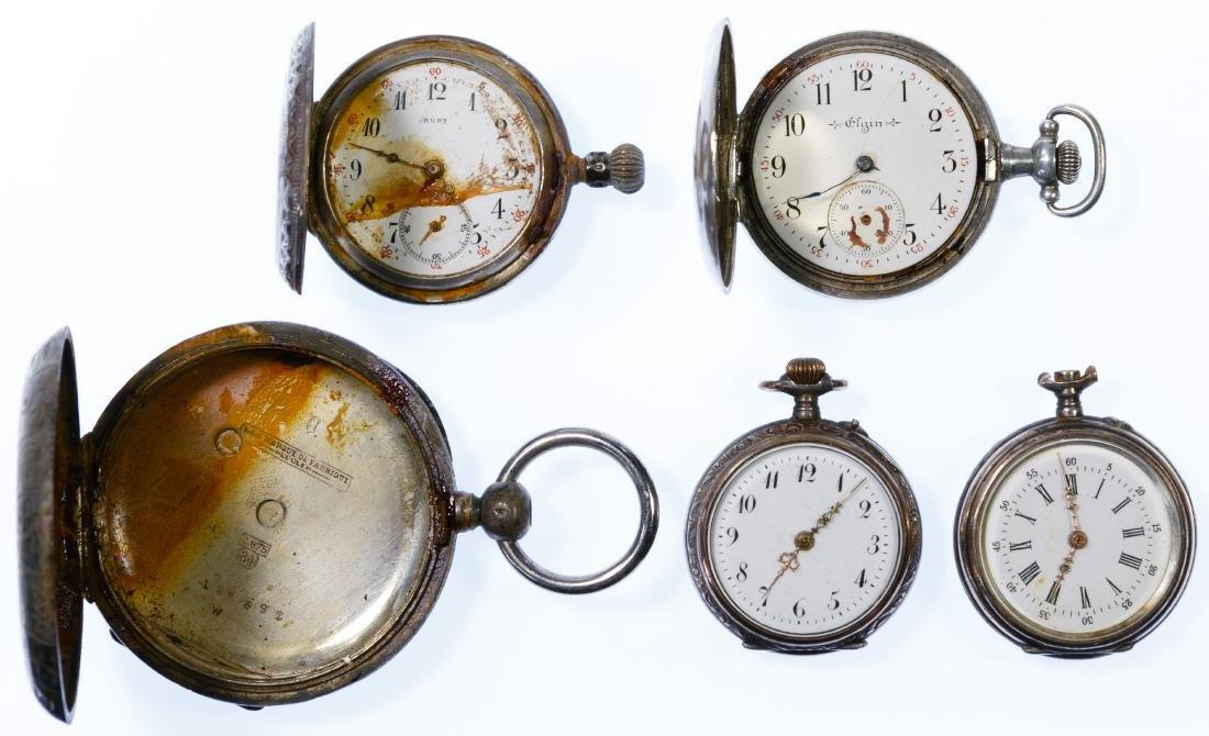 Silver Pocket Watch Assortment