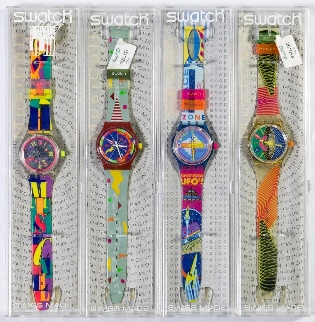 Swatch Musical and Stop Watch Wrist Watch Assortment