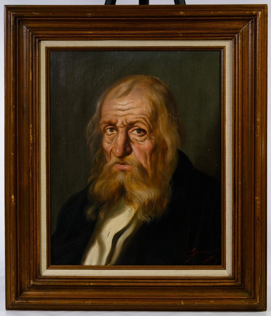 Guszich (20th Century) 'Rabbi' Oil on Canvas