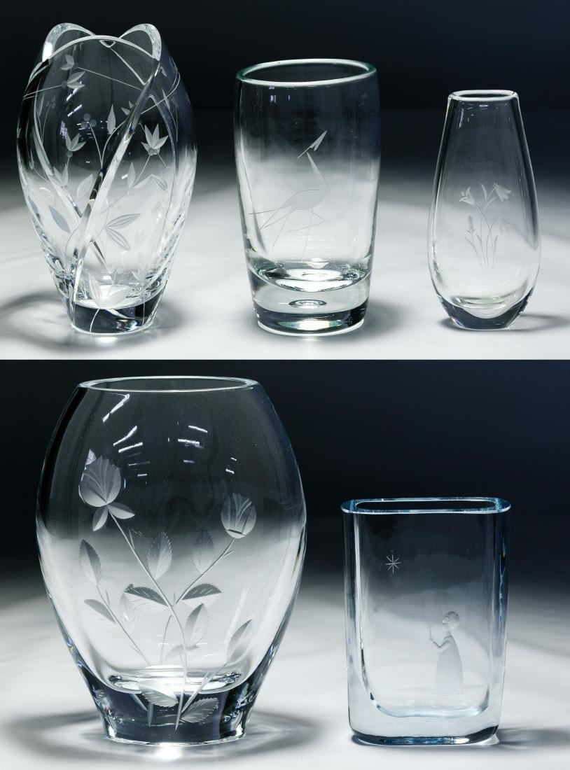 Etched Glass Vase Assortment