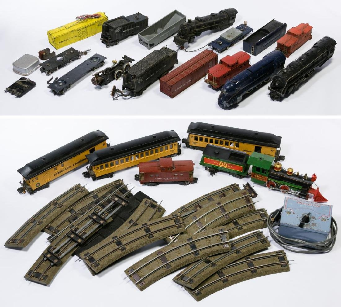 American Flyer S-Gauge Model Toy Train Car, Track and
