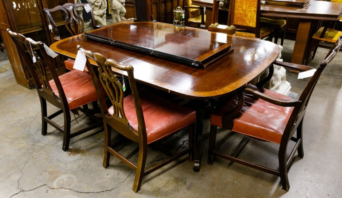 Chippendale Style Mahogany Dining Table by Baker