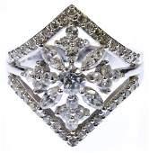 Christian Bernard 18k White Gold and Diamond Ring