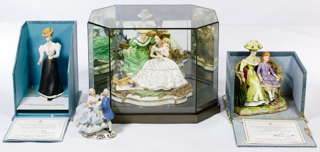 Royal Worcester Figurine Grouping