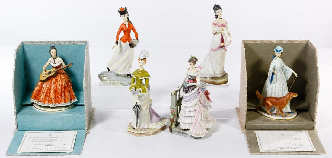 Royal Worcester Figurine Grouping - 2