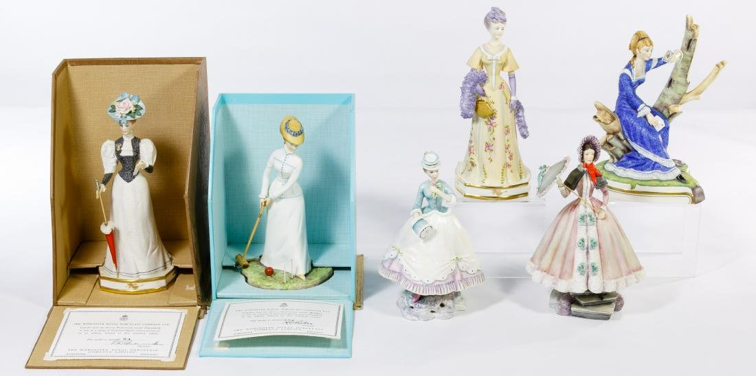 Royal Worcester Figurine Grouping - 3