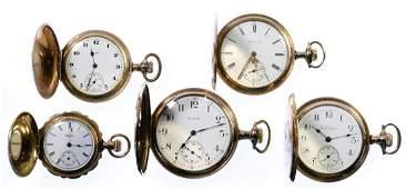 Elgin Gold Filled Hunter Case Pocket Watch Assortment