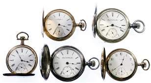 Elgin Hunter Case Pocket Watch Assortment