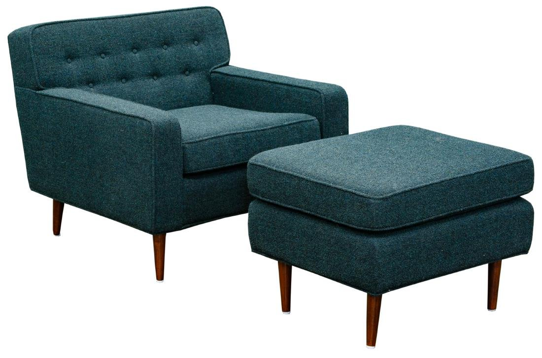 MCM Chair and Ottoman by Milo Baughman
