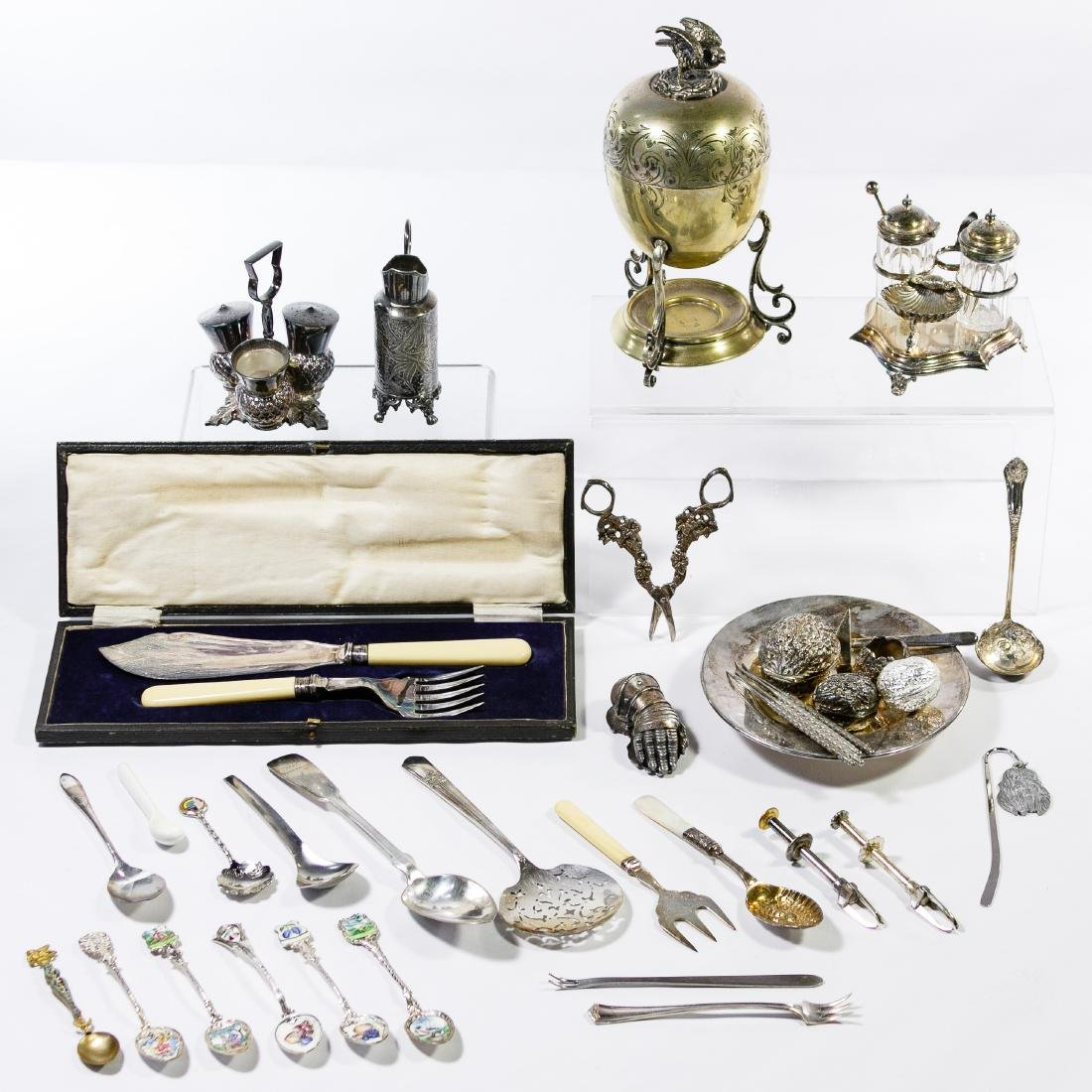 Silverplate Hollowware and Flatware Assortment
