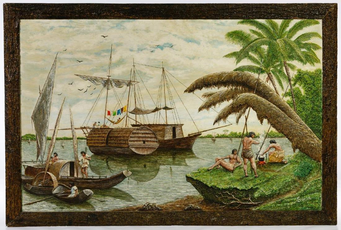 Ecuador Art School Mixed Media Paintings - 2