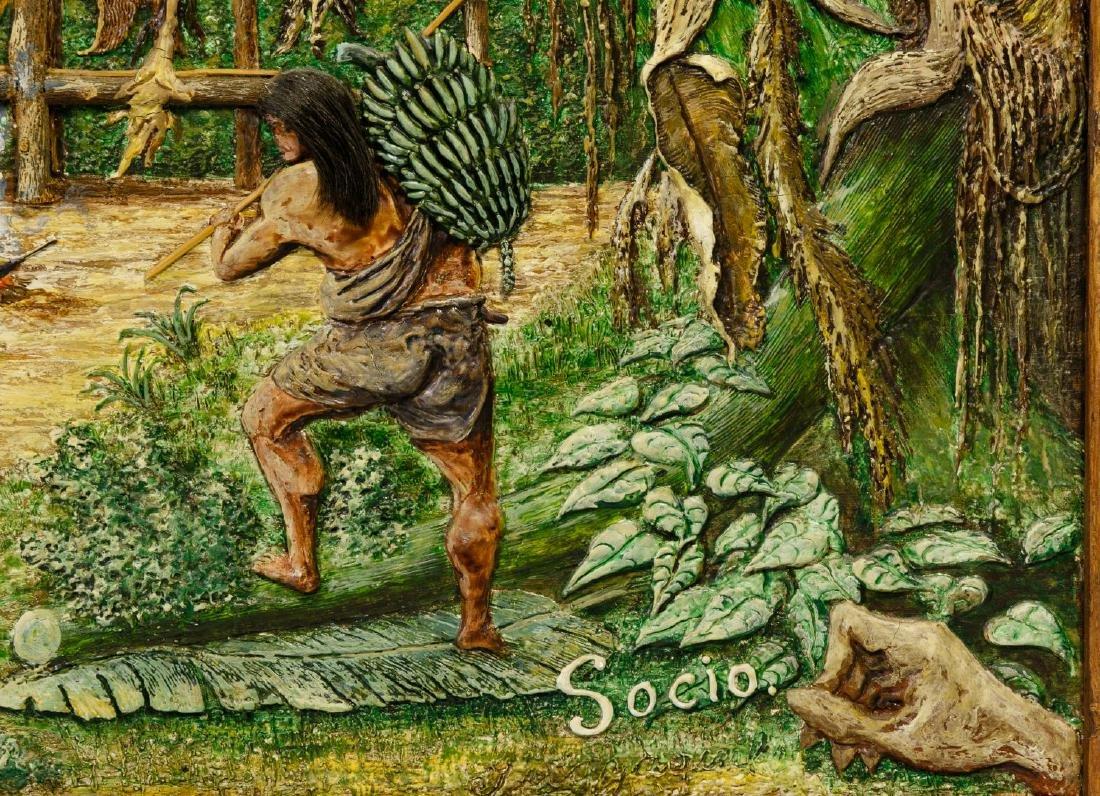 Ecuador Art School Mixed Media Paintings - 6