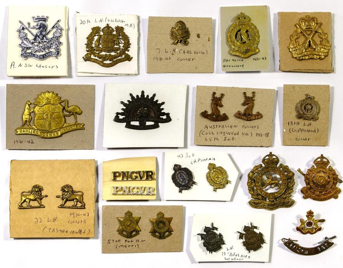 British / Commonwealth Cap and Collar Badge Assortment
