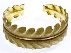 18k TwoTone Gold Cuff Bracelet