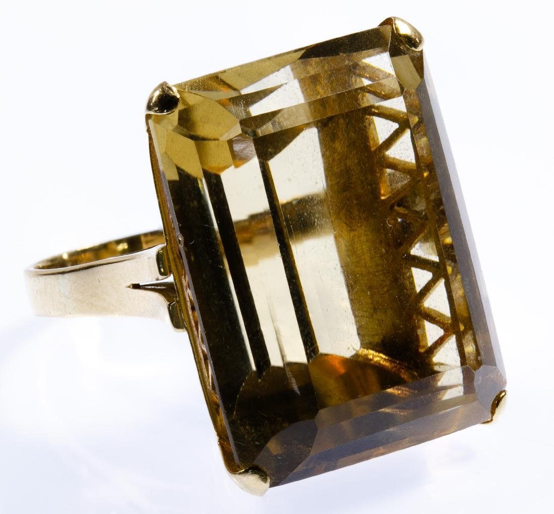 14k Gold and Citrine Ring