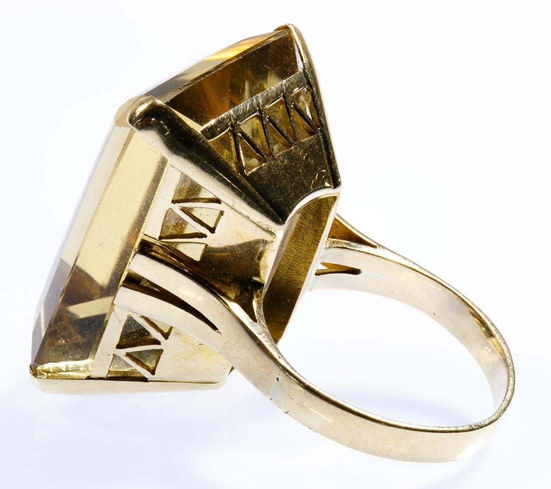 14k Gold and Citrine Ring - 2