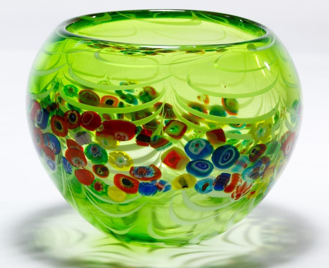 Murano Millefiori Art Glass Bowl