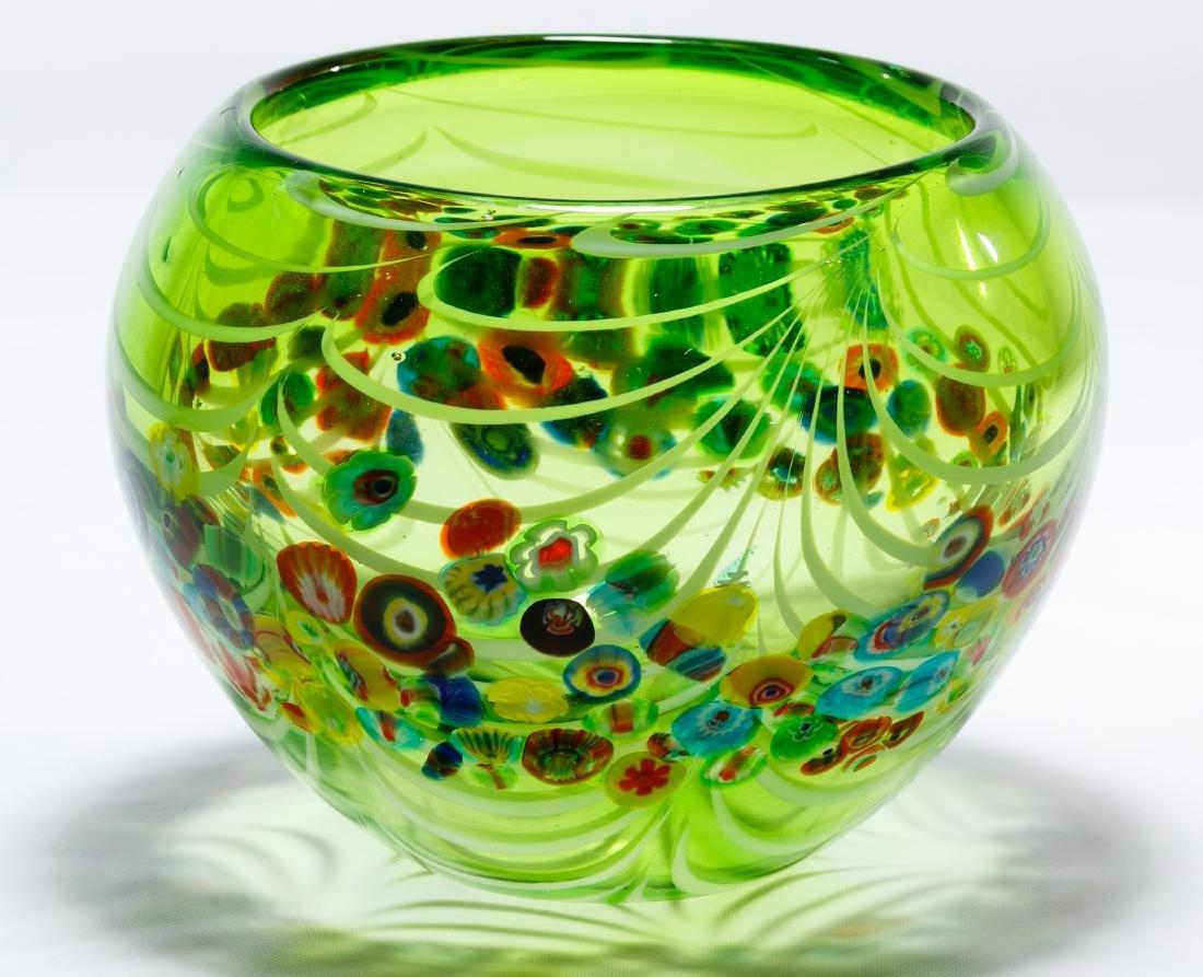 Murano Millefiori Art Glass Bowl - 2