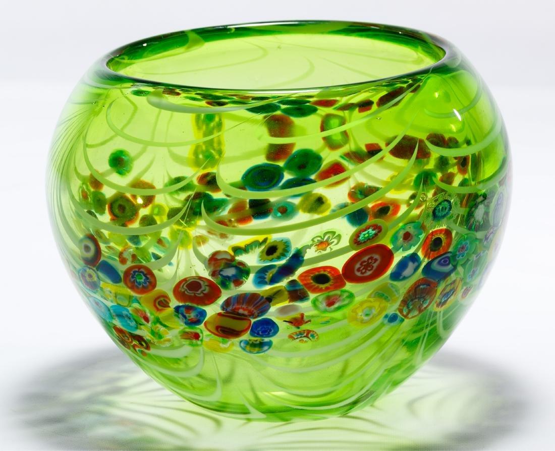 Murano Millefiori Art Glass Bowl - 3