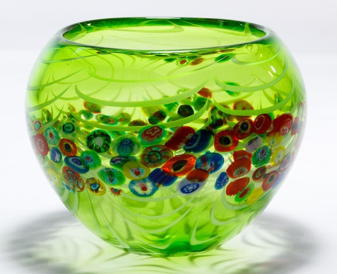 Murano Millefiori Art Glass Bowl - 4