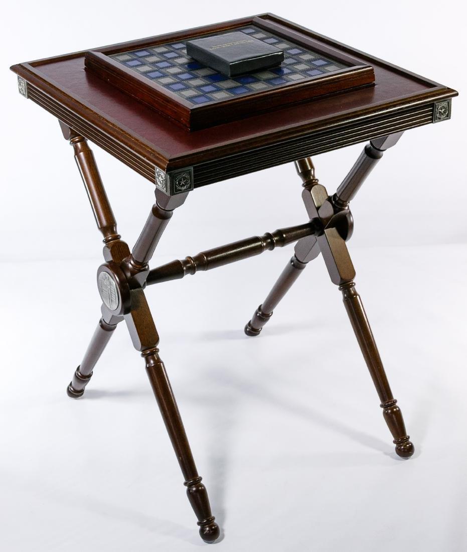 Franklin Mint 'Civil War' Chess Set on Table