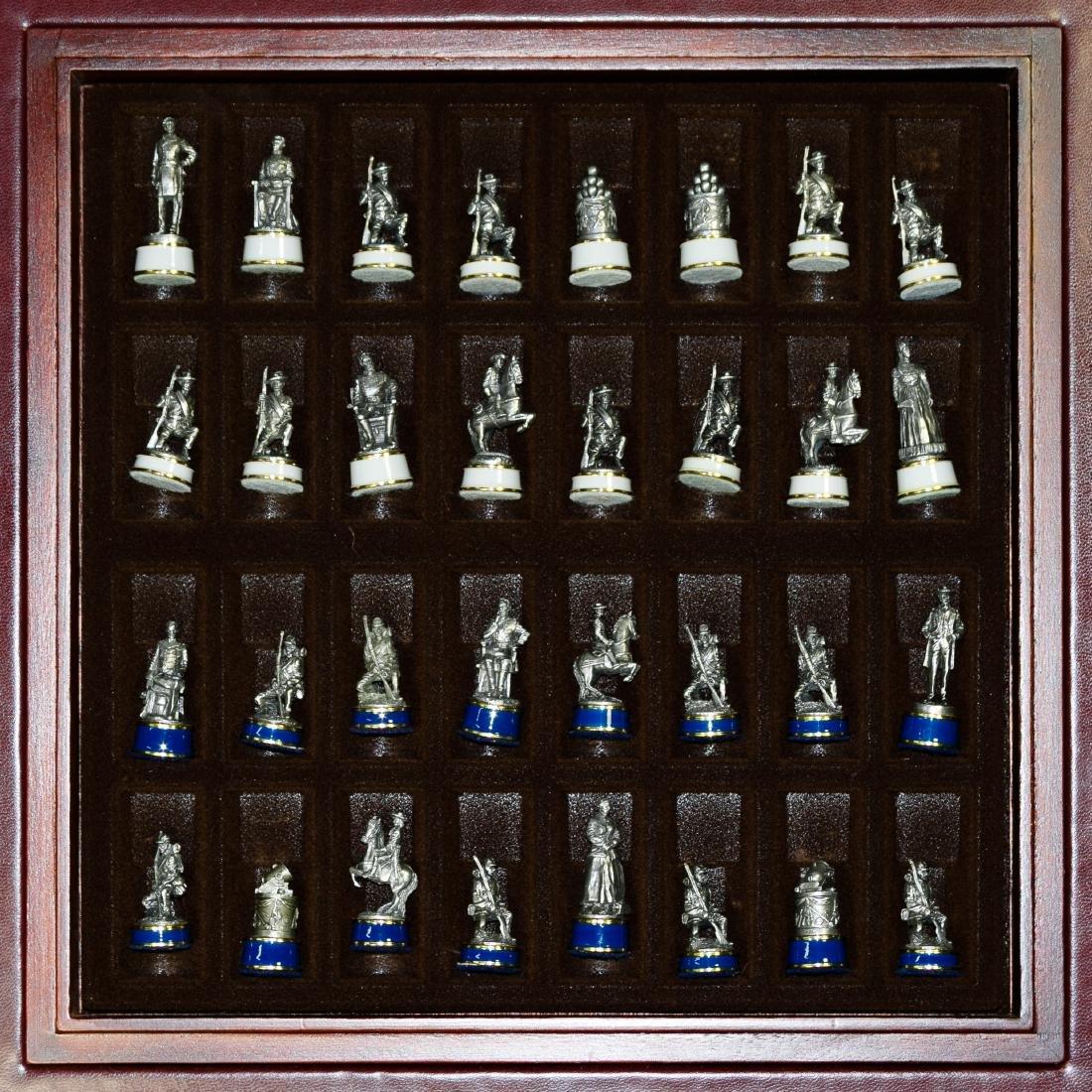 Franklin Mint 'Civil War' Chess Set on Table - 4