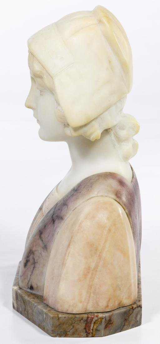 Carli (European, 20th Century) Carved Alabaster Bust - 2
