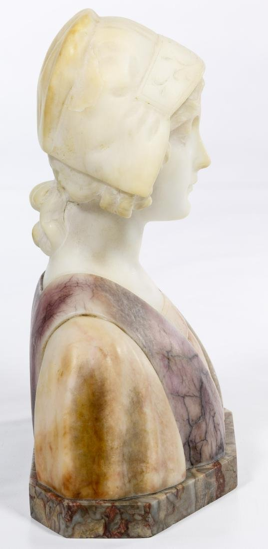 Carli (European, 20th Century) Carved Alabaster Bust - 4