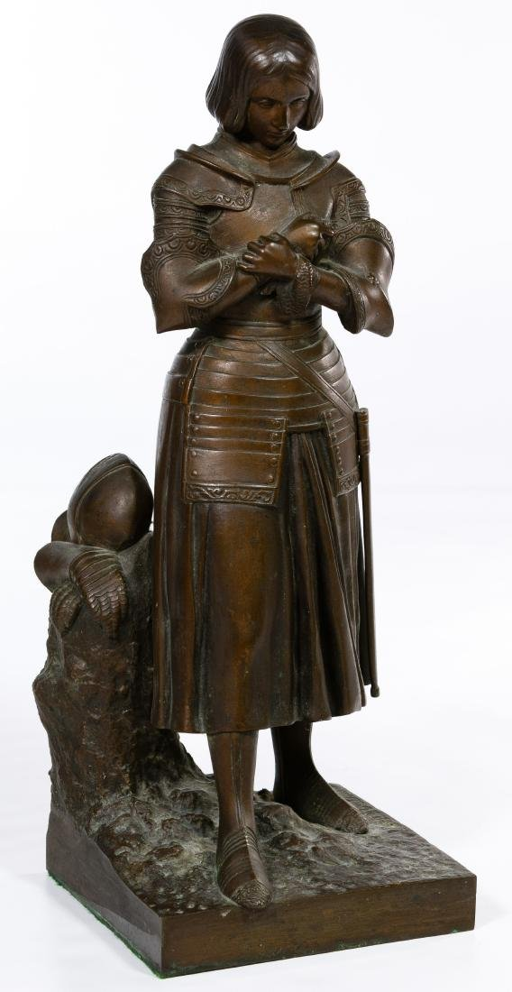 Marie d'Orleans (French, 1813-1839) Bronze Joan of Arc