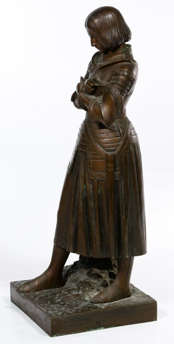 Marie d'Orleans (French, 1813-1839) Bronze Joan of Arc - 2