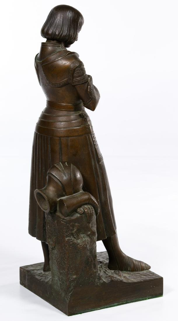 Marie d'Orleans (French, 1813-1839) Bronze Joan of Arc - 4