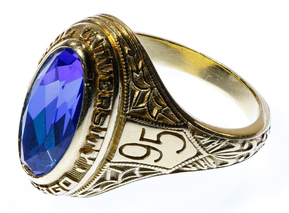 18k Gold and Sapphire School Ring - 2
