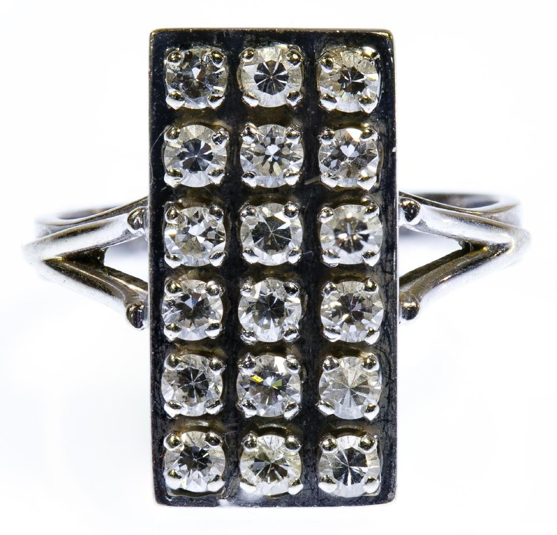 18k White Gold and Diamond Ring